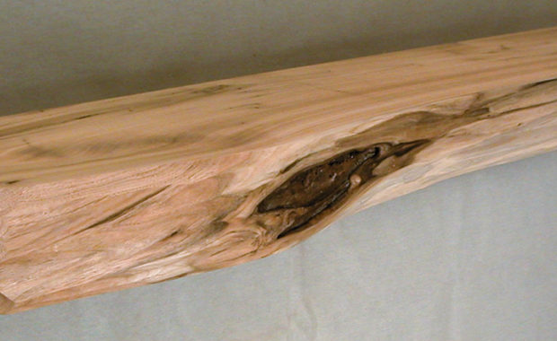 Log Style Mantel Carved Face