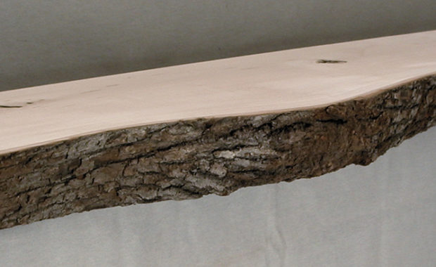Log Style Mantel Bark Face