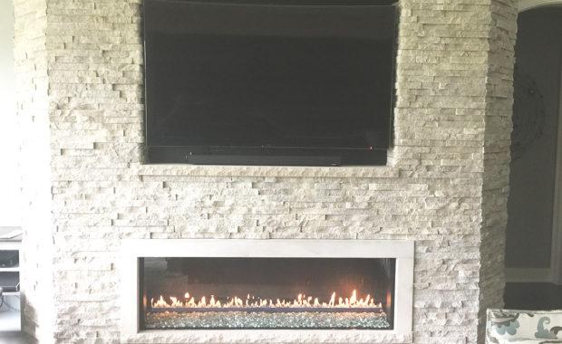 our portfolio gas fireplace with stone surround