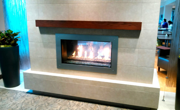 our portfolio gas fireplace with tile surround