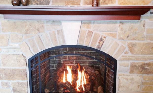 our portfolio wood burning fireplace