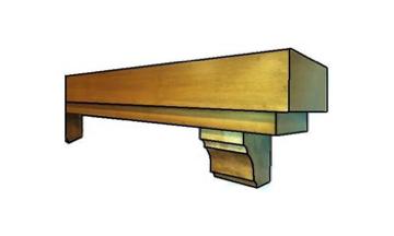 tiered box mantel